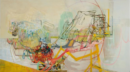 Between A Rock And A Hunk, painting, Laurie Danial, Froelick Gallery