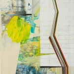Leaning Left, 2013, oil on panel, 28 x 24 inches